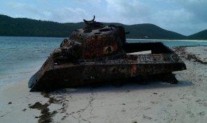 Rusted tank. Culebra