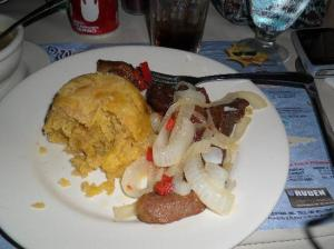 Mofongo with onions