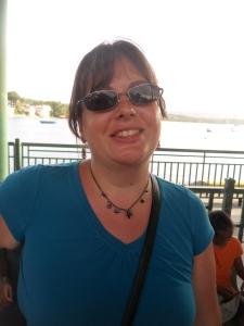 Karina at the ferry docks.