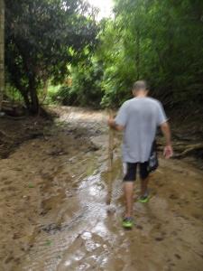 The sucking mud was a challenge.