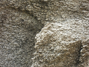 The roughness of the rock formations up close. It felt a lot like pumice.